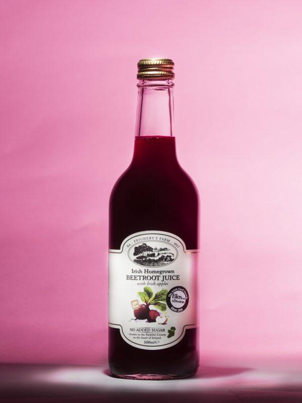 Irish Beetroot Juice Bottle